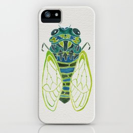 Blue Cicada iPhone Case