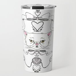 Cat Crest Travel Mug