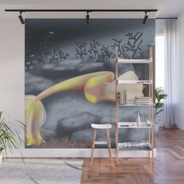 Sleeping Mermaid Wall Mural