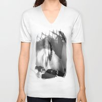 sleep V-neck T-shirts featuring Sleep by Shadoe Leibelt