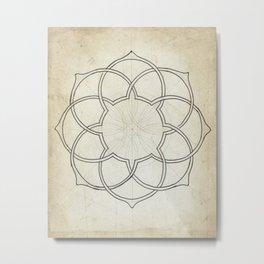 Geometry Sketch 11 Metal Print