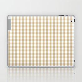 Christmas Gold Large Gingham Check Plaid Pattern Laptop & iPad Skin