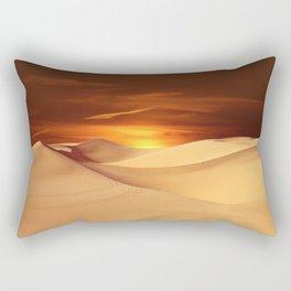 Desert Sun Landscape Photographic Rectangular Pillow