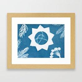 Sunprint - 9 Pointed Star Framed Art Print