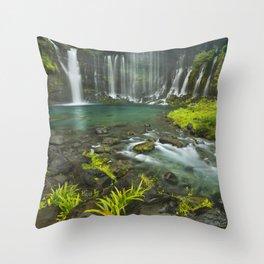 II - Shiraito Falls near Mount Fuji, Japan Throw Pillow