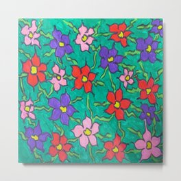 Sweet Floral Garden Metal Print