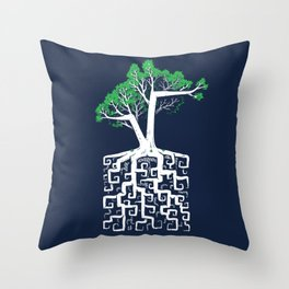 Square Root Throw Pillow