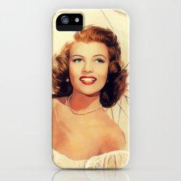 Rita Hayworth, Hollywood Legend iPhone Case
