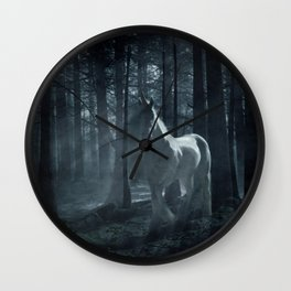 Unicorn in the Forest Wall Clock