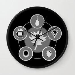 The Power Six - Minimalist Black Wall Clock