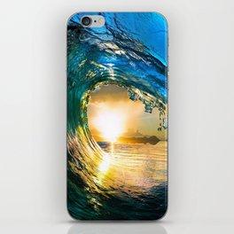 Glowing Wave iPhone Skin