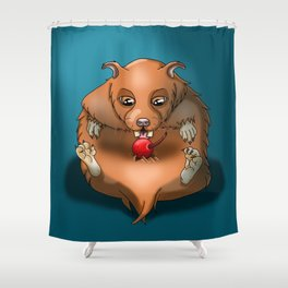 Lazy Hamster Shower Curtain