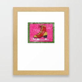 Lovely Gift Ice Skating Tshirt Design I'm at home Framed Art Print