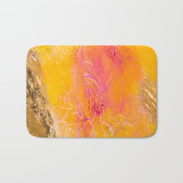 Tangerine Closeup Bath Mat