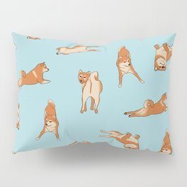 Shiba Inu Print Blue Pillow Sham