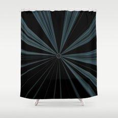 Black Velvet Silver Flower Button Design Shower Curtain