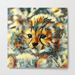 AnimalArt_Cheetah_20170602_by_JAMColorsSpecial Metal Print