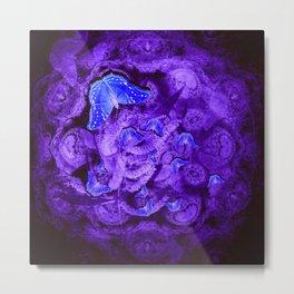 Mysterious blue butterflies Metal Print