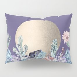 Desert Sun + Gemstones Gold Deep Purple Pillow Sham