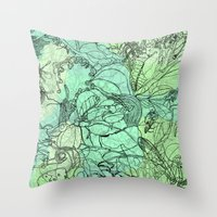 insects Throw Pillows featuring Insects by David Bushell