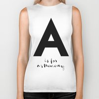 astronomy Biker Tanks featuring A is for Astronomy by Pan Lis