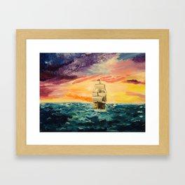 Pirating by Sunset Framed Art Print