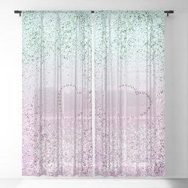 Mermaid Lady Glitter Heart #4 #decor #art #society6 Sheer Curtain