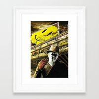 watchmen Framed Art Prints featuring Who Watches The Watchmen? by SB Art Productions