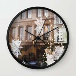 Window Reflections  //  Christmas in the City Wall Clock