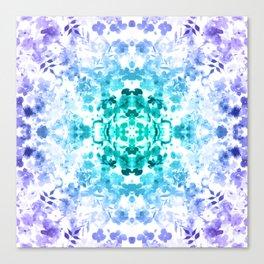 Floral Print - Teal & Purple Canvas Print