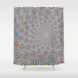 Psychedelic Swirl Shower Curtain