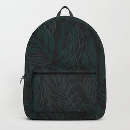 Modern Leaf Pattern for the Chic Nature Lover Backpack
