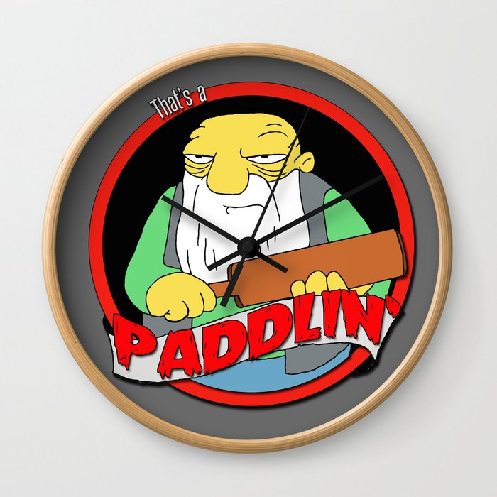 That's a paddlin' Wall Clock