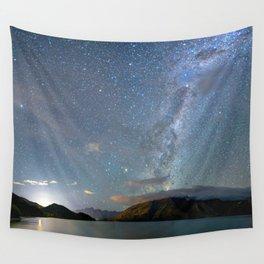New Zealand Southern Hemisphere Skies Over Lake Wakatipu Wall Tapestry