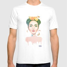Frida kahlo White SMALL Mens Fitted Tee