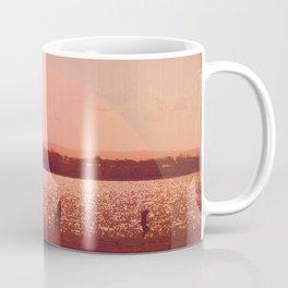 Vintage Coral Sunset, Winter Beach Coffee Mug
