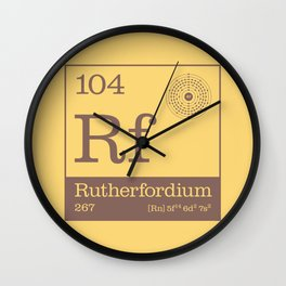Periodic Elements - 104 Rutherfordium (Rf) Wall Clock