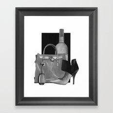 Fashion Illustration - Ink Wash Framed Art Print