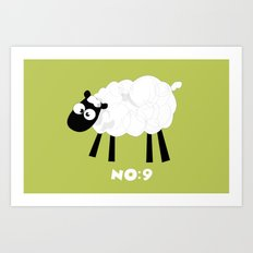 Sheep Number 9.... Art Print