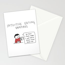 Intuitive Eating Vampire 1: Snack Sized Bloodlust Stationery Cards