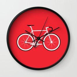 Red Fixed Gear Bike Wall Clock
