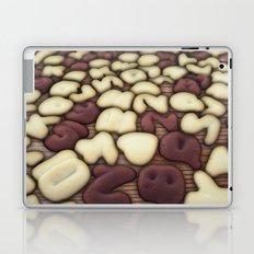 Alphabet Vanilla and Chocolate Cookies Biscuits Laptop & iPad Skin