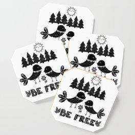 Be Free Birds In Cute Scandinavian Style Coaster