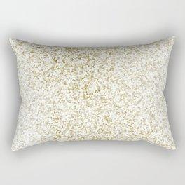 Modern abstract white faux gold glitter pattern Rectangular Pillow