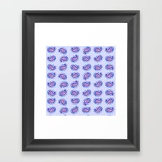 Paisley Watercolor in Blue & Pink Framed Art Print