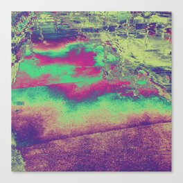 Oiled Rainbow Path Canvas Print
