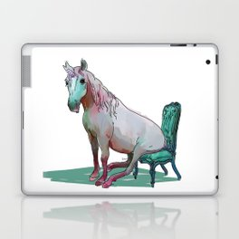 animals in chairs #22 The Unicorn Laptop & iPad Skin