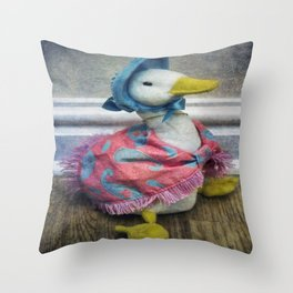 Jemima Puddle Duck Throw Pillow