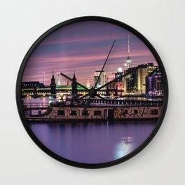 Berlin Purple Wall Clock
