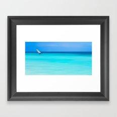 cat sailing Framed Art Print